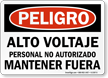 Spanish OSHA Danger Sign