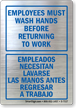 Bilingual Wash Hands Glass Decal