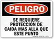 Spanish OSHA Danger Sign