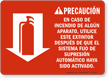 Spanish Fire Extinguisher Instruction Sign