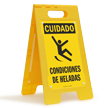 Cuidado Condiciones De Heladas, Spanish Icy Conditions Sign