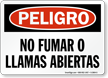 Spanish OSHA Danger / Peligro Sign