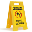 FloorBoss XL™ Spanish Caution Watch Your Step Stand-Up Sign