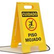 FloorBoss XL™ Spanish OSHA Caution Wet Floor Stand-Up Sign