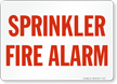 Sprinkler Fire Alarm Safety Sign