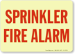 Sprinkler Fire Alarm Glow Sign
