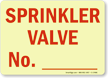 Sprinkler Valve No._____ Sign