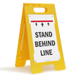 Stand Behind Line FloorBoss Sign