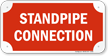 Standpipe Fire Sprinkler Connection Sign