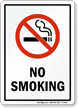 State No Smoking Sign