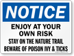Stay On Trail Beware Of Poison IVY Sign