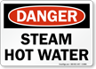 Steam Hot Water OSHA Danger Sign