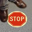 STOP Floor Glow Sign