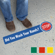 Stop Did You Wash Your Hands SlipSafe Floor Sign
