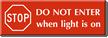 Engraved Flashing Light Sign