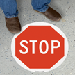 17in. Diameter SlipSafe™ Floor Safety Sign onmouseover =
