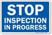 STOP Inspection in Progress Railroad Clamp Sign