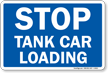 STOP Tank Car Loading Railroad Clamp Sign