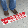 Stop We Are Currently Not Accepting Visitors SlipSafe Floor Sign