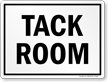 Tack Room Horse Safety Sign