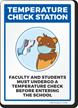 Temperature Check Station Bear Sign
