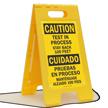 Bilingual Floor Sign