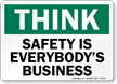 Think Safety Business Sign