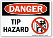 Tip Hazard Danger Sign