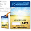 Today Safety Bright Tomorrow Scoreboard Changeable Face