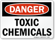 Danger Toxic Chemicals Sign