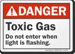 Toxic Gas Do Not Enter ANSI Danger Sign