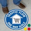 Traffic Flow One Way Aisle SlipSafe Floor Sign