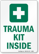 Trauma Kit Inside with First Aid Symbol Sign