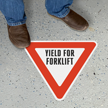 Triangular Yield for Forklift Sign