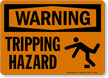 Warning Tripping Hazard Sign