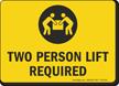 Lifting Instruction Sign