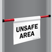 Unsafe Area Door Barricade Sign