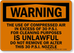 Do Not Remove Alter Nozzle Warning Sign