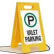 VALET PARKING Free-Standing Sign