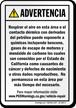 Spanish California Prop 65 Sign
