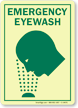 Emergency Eyewash (with graphic) (vertical)
