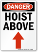 Danger Hoist Above Vertical Sign