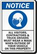 Visitors Contractors Truck Drivers Must Wear A Mask Sign