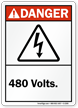 Danger (ANSI) Voltage Sign