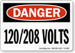 OSHA High Voltage Danger Sign and Label