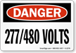 OSHA High Voltage Danger Sign and Label