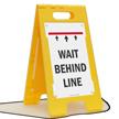 Wait Behind Line FloorBoss Sign