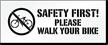 Walk Your Bike Pavement And Parking Stencil