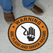 Warning Shock Hazard with Graphic Sign