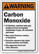 Warning Carbon Monoxide Sign